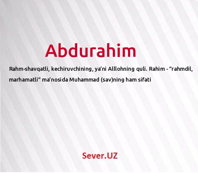 Abdurahim