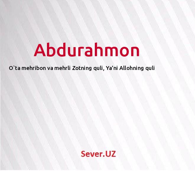 Abdurahmon