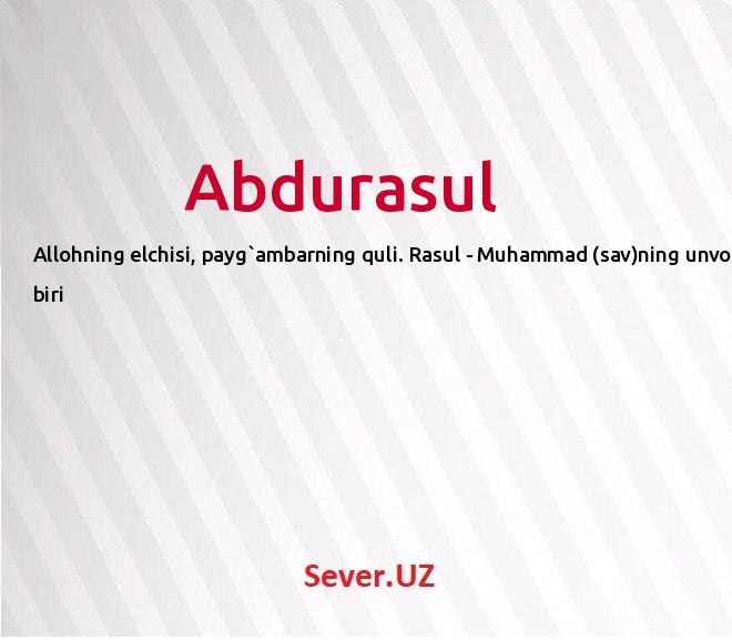 Abdurasul