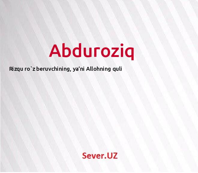 Abduroziq