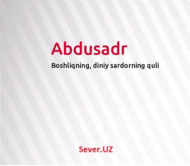 Abdusadr
