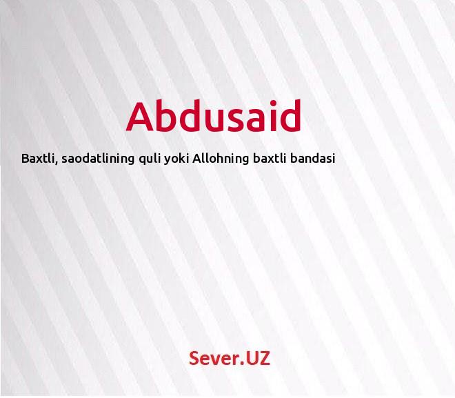 Abdusaid