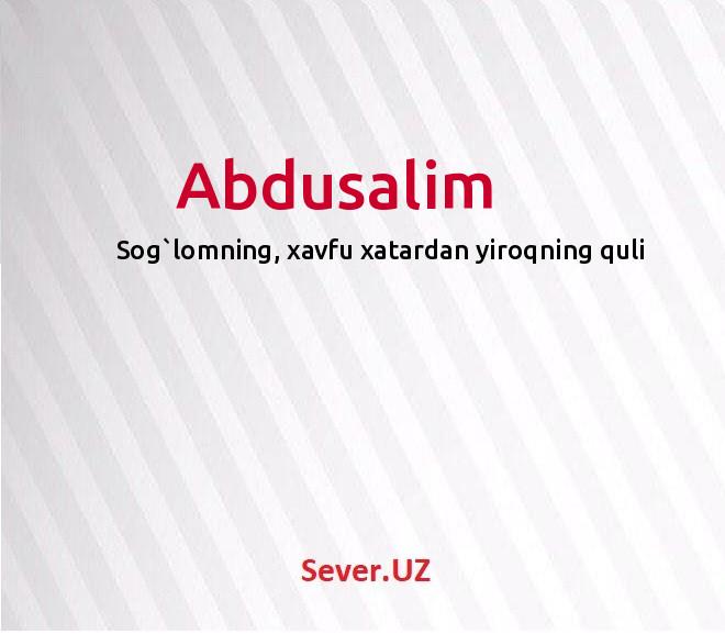 Abdusalim