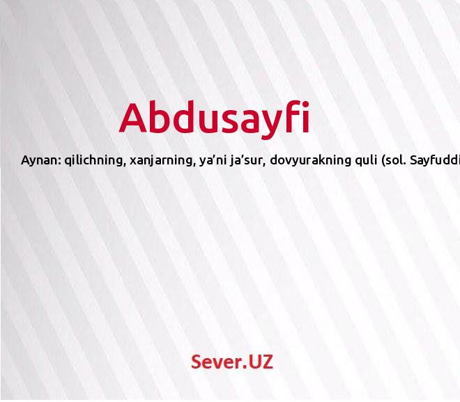Abdusayfi