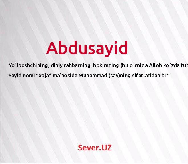 Abdusayid