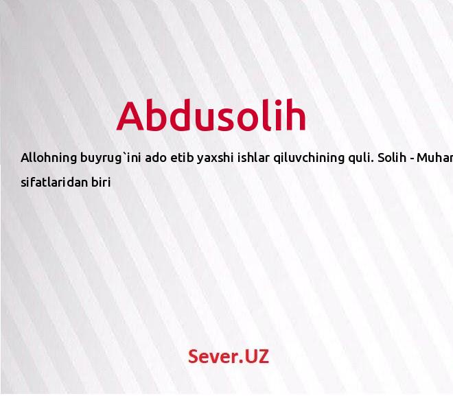 Abdusolih