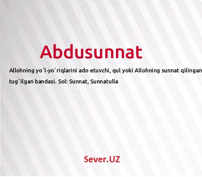 Abdusunnat