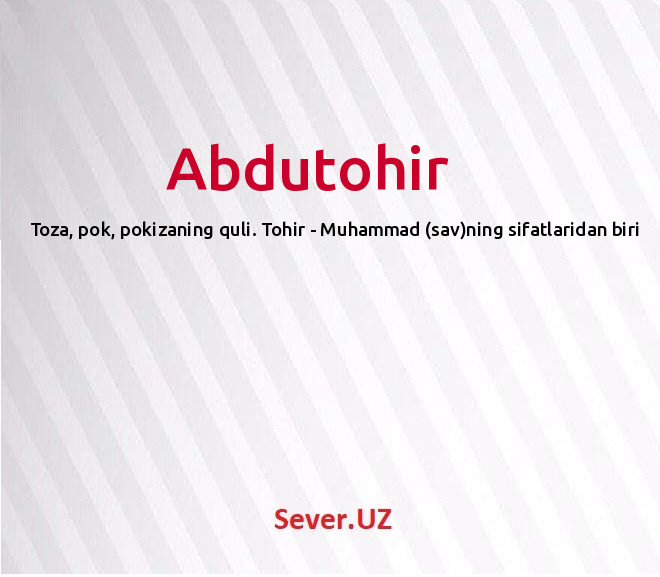 Abdutohir