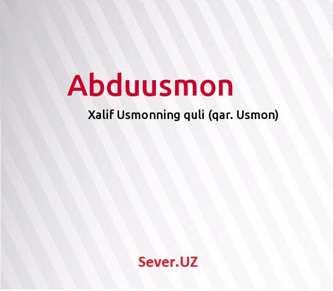Abduusmon