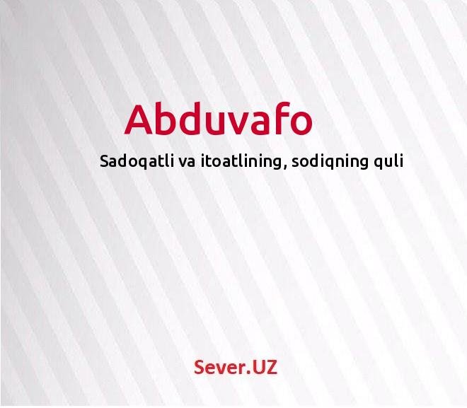 Abduvafo