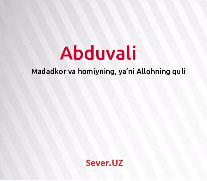 Abduvali