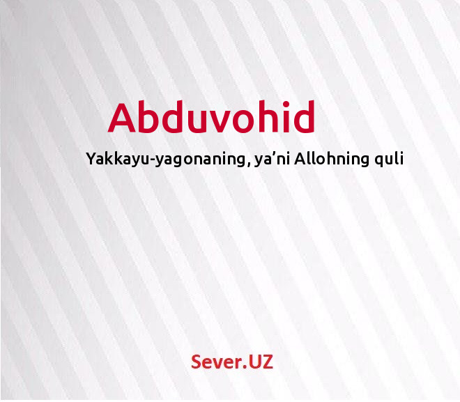 Abduvohid