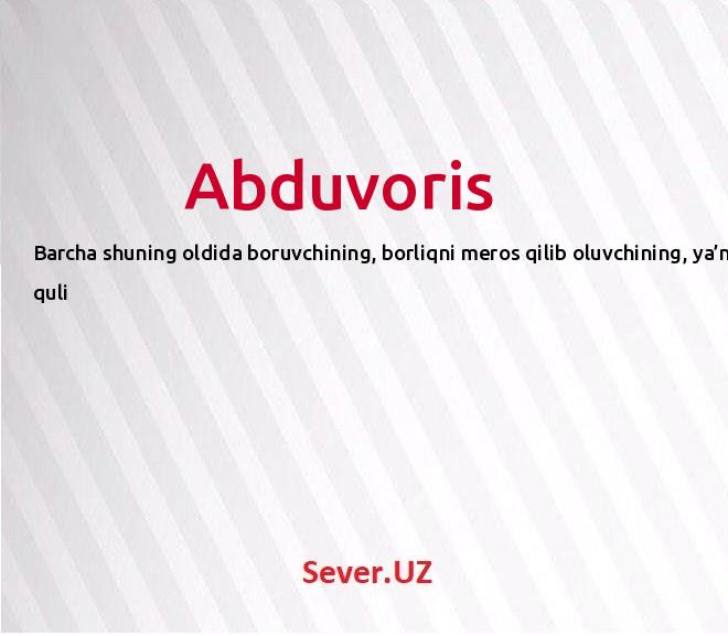 Abduvoris