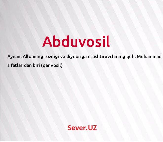 Abduvosil
