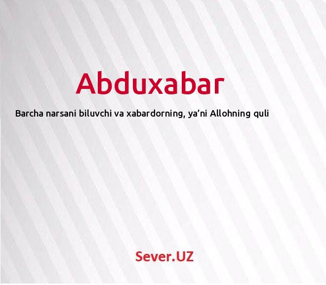 Abduxabar