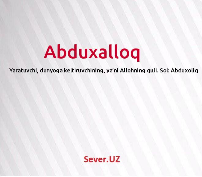 Abduxalloq