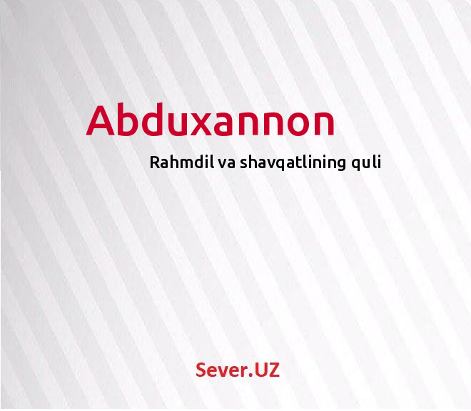 Abduxannon