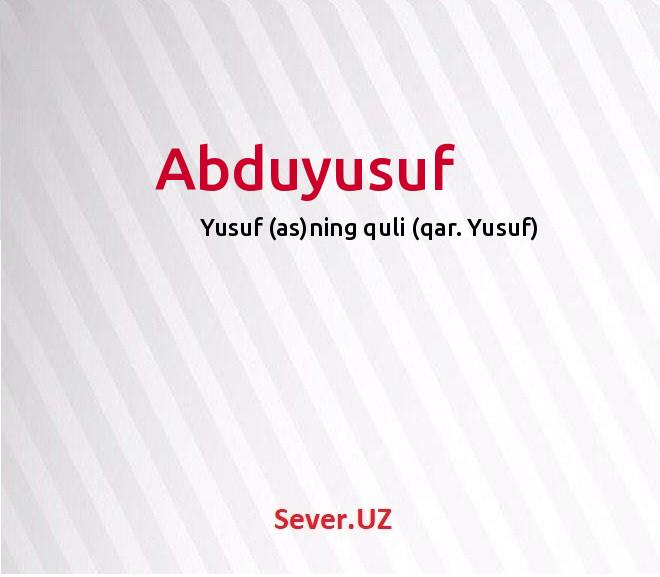Abduyusuf