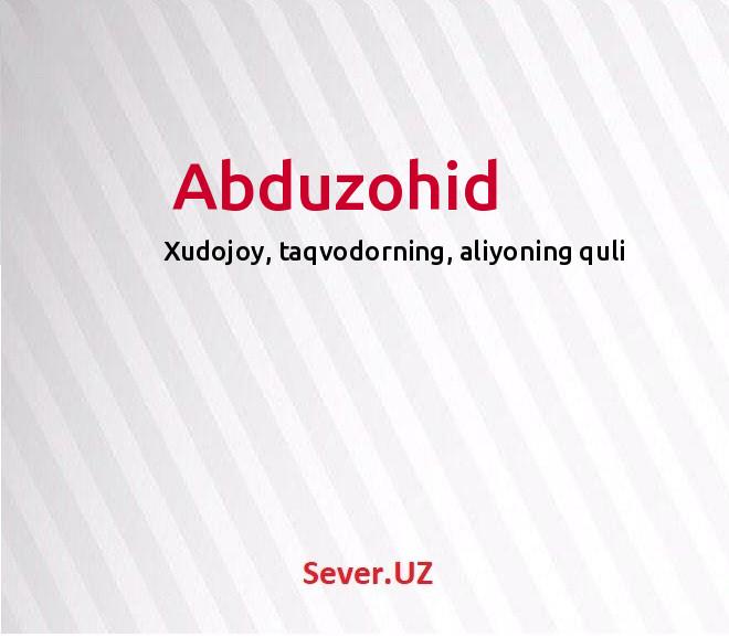 Abduzohid