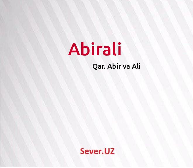 Abirali