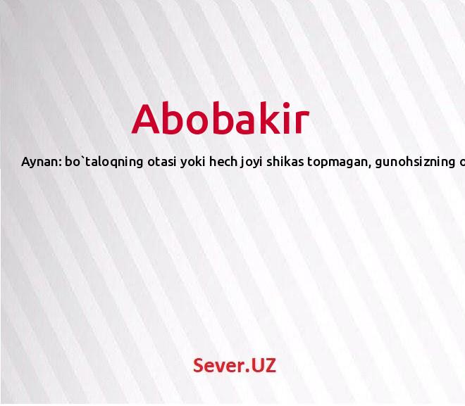 Abobakir