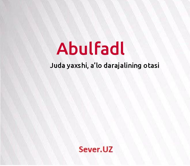 Abulfadl