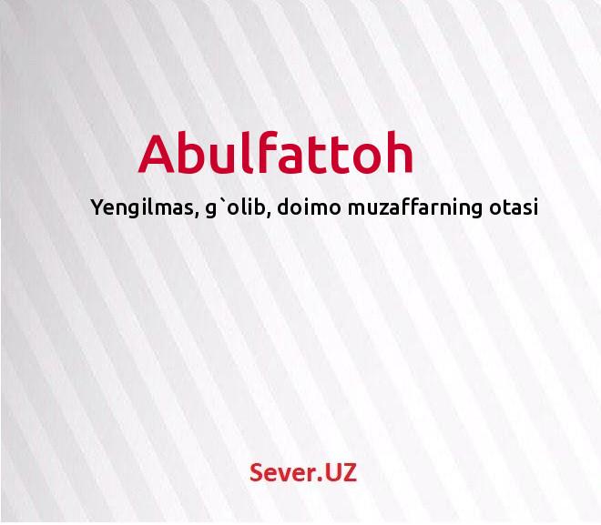 Abulfattoh