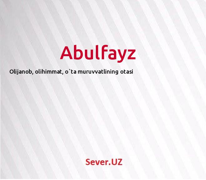 Abulfayz