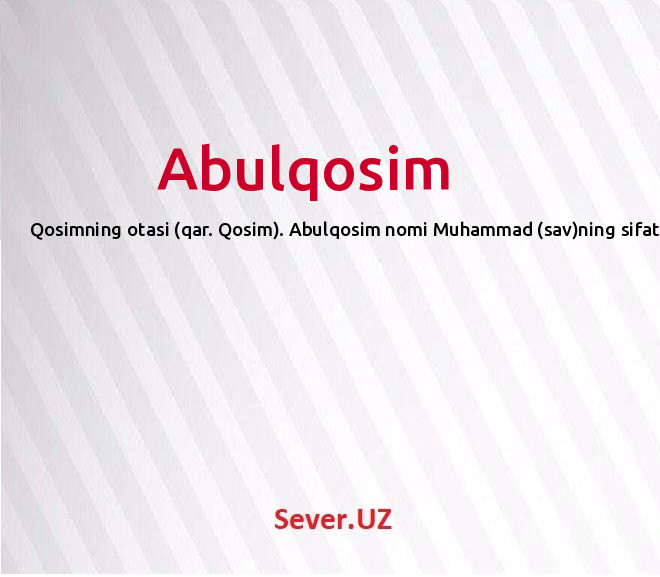 Abulqosim