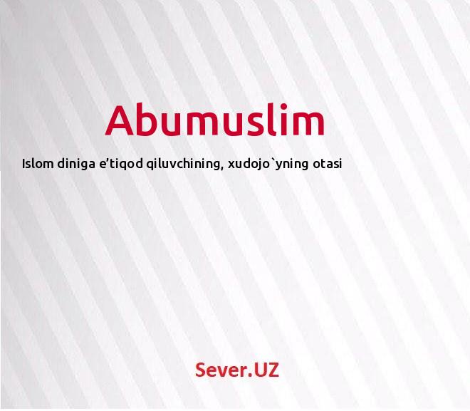 Abumuslim