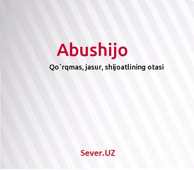 Abushijo