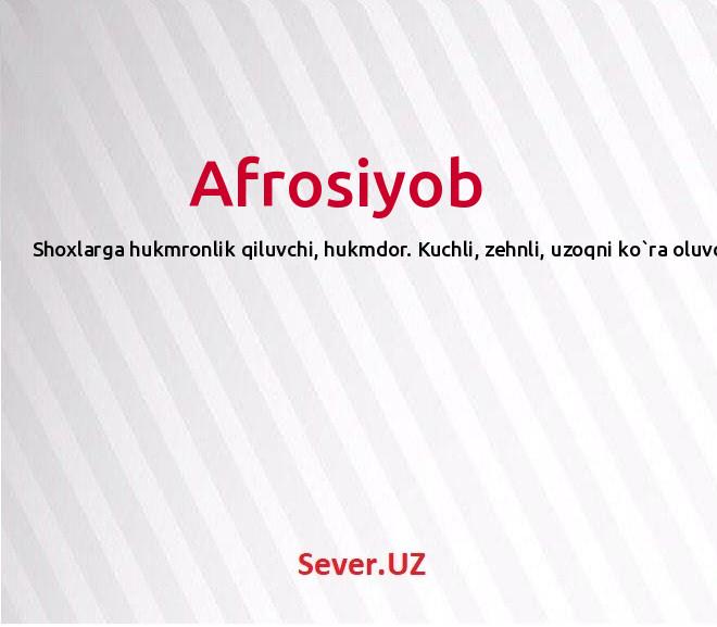 Afrosiyob