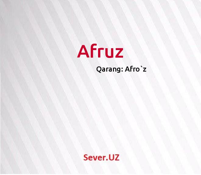 Afruz