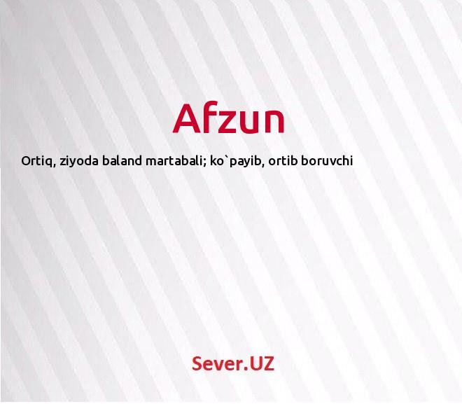 Afzun
