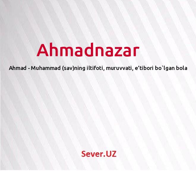 Ahmadnazar