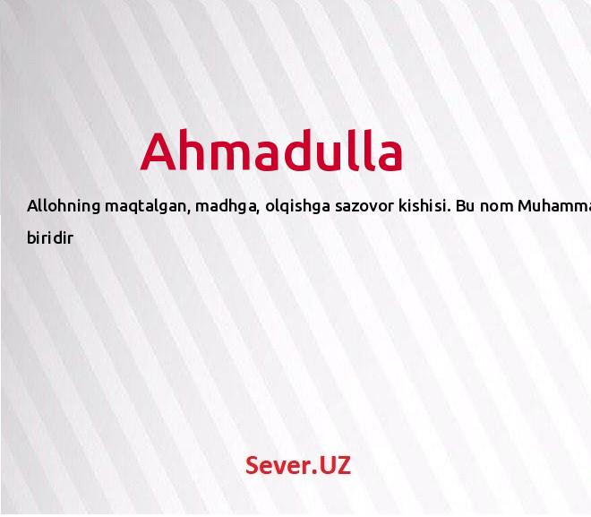 Ahmadulla