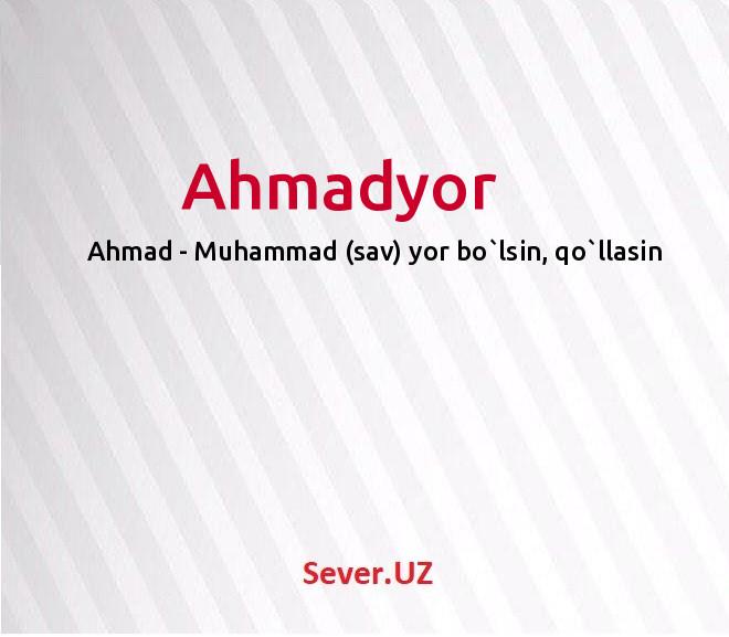 Ahmadyor