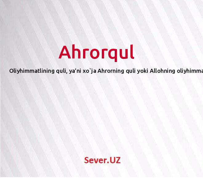 Ahrorqul