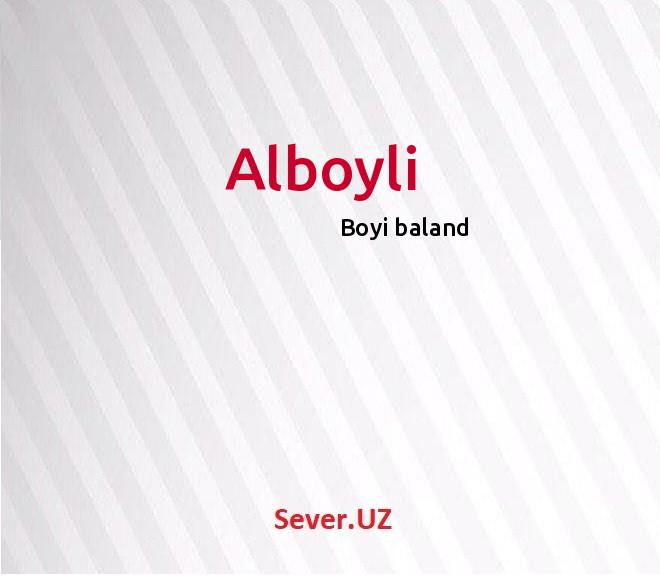 Alboyli