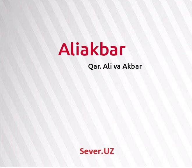 Aliakbar