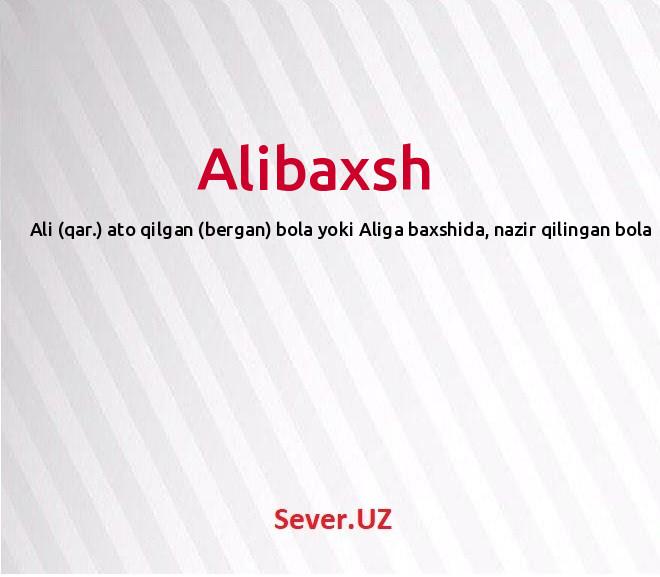 Alibaxsh