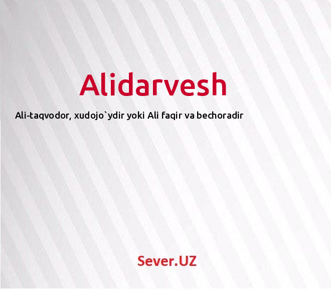 Alidarvesh