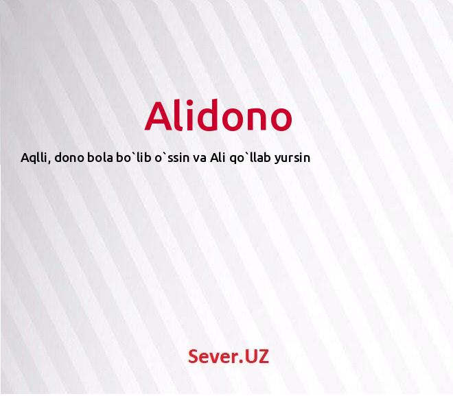 Alidono