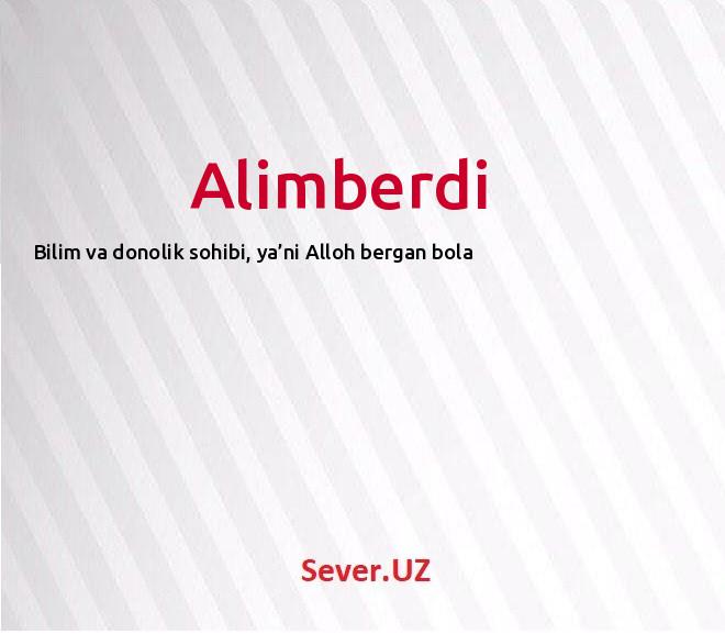Alimberdi