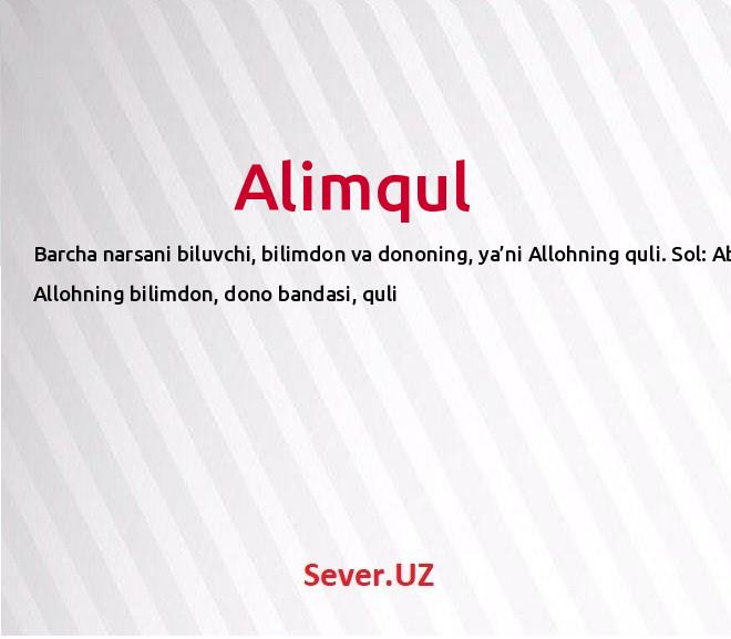 Alimqul