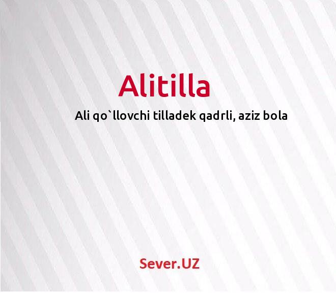 Alitilla