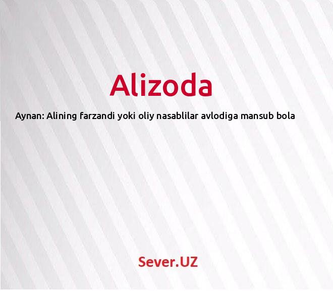 Alizoda
