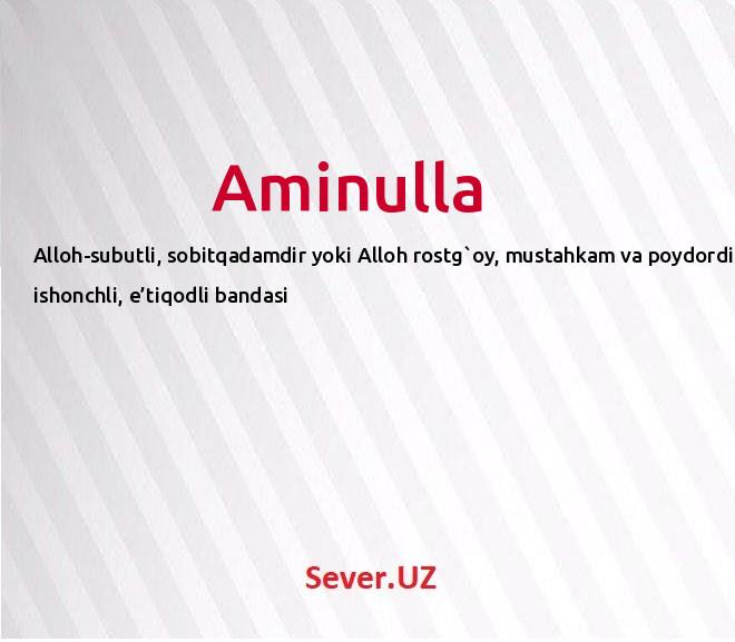 Aminulla