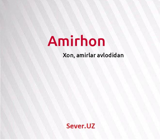 Amirhon