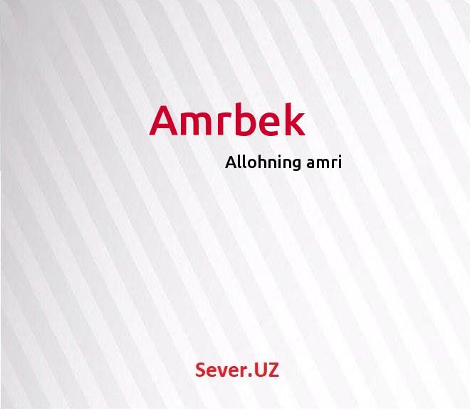 Amrbek